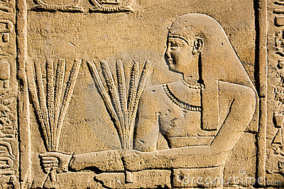 Ancient Egyptian Priest with Wheat