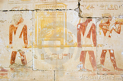 Ancient Egyptian Priests with golden ark