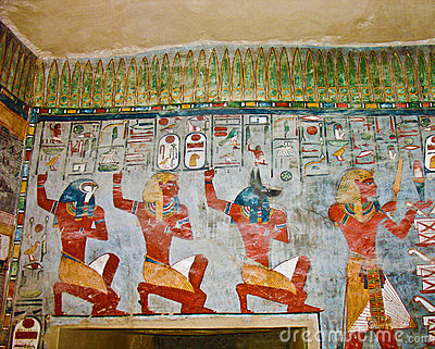 Ancient egyptian wall painting stock photo image 14387360 for Egyptian fresco mural painting