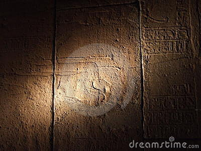 Ancient Egyptian Writings Stock Image - Image: 11835851