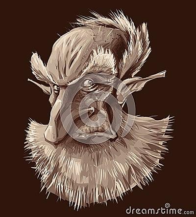 Ancient elf portrait