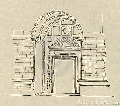 Ancient Entryway Drawing