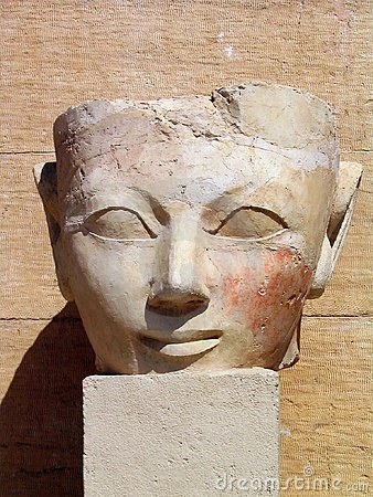 Ancient figure at the Temple of Queen Hatshepsut, Egypt