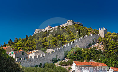 Ancient fortress at Hvar island, Croatia