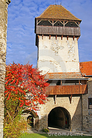 Ancient fortress in transylvania
