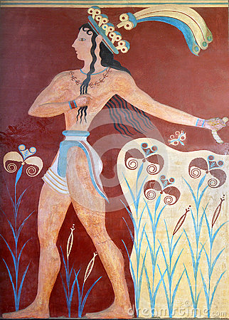 Ancient fresco from Knossos, Crete