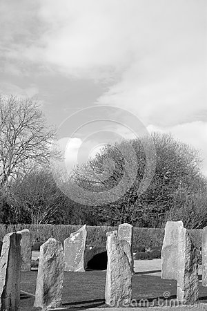 Ancient gaelic standing stone circle