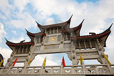 Ancient gate of China