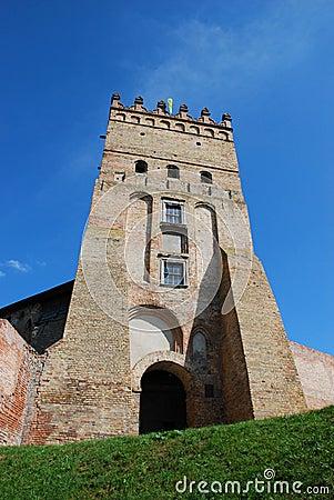 Ancient gate and tower, fortress of Lyuborta