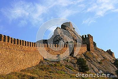 Ancient genoa fortress.