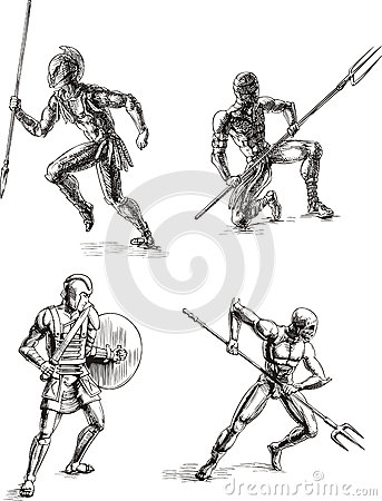 Ancient Gladiator Sketches