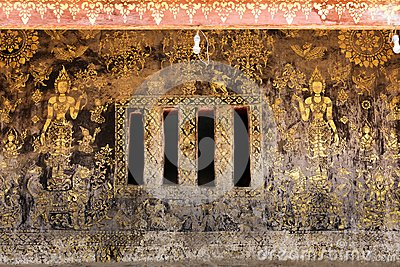 Ancient golden paintings