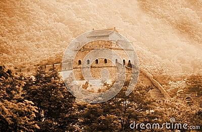 Ancient Great Wall of China.