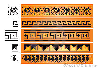 Ancient Greece ornament design element