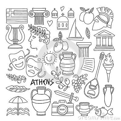 Ancient Greece Colouring Sheets - Kids Puzzles and Games | 400x400