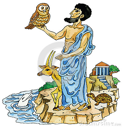 Ancient Greek with sacred animals