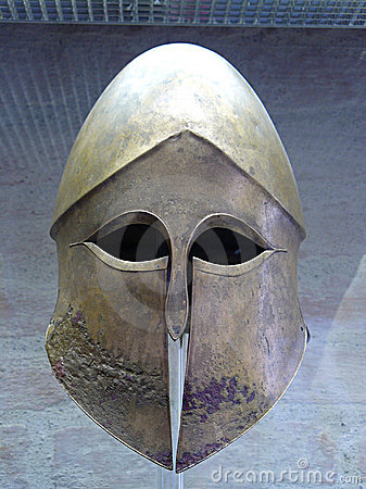 Ancient greek helmet