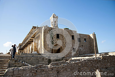 Ancient greek monastery Editorial Stock Photo