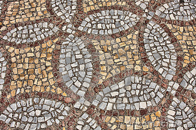 Ancient Greek Mosaic Royalty Free Stock Photography