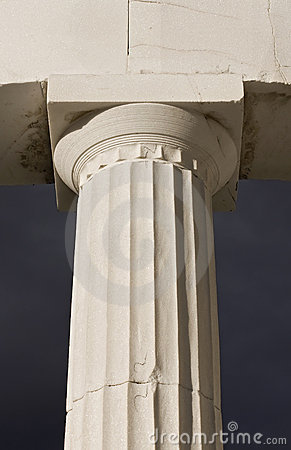 Ancient greek pillar