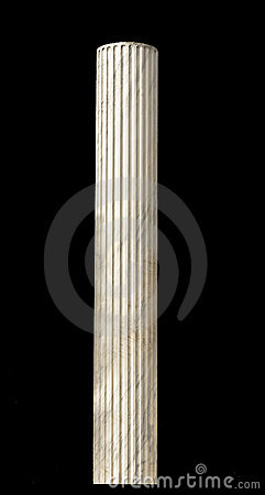 Ancient Greek pillar isolated