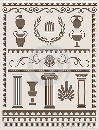 Ancient Greek And Roman Design Elements Stock VectorImage 42342350