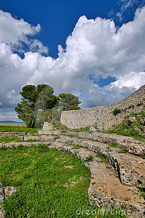 Ancient greek ruins in Akrai