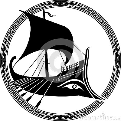 Free Ancient Greek Ship Stock Photography - 107208702