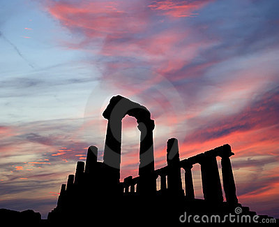 Ancient Greek Temple Of Juno (V-VI Century BC) Royalty Free Stock Images - Image: 22378939