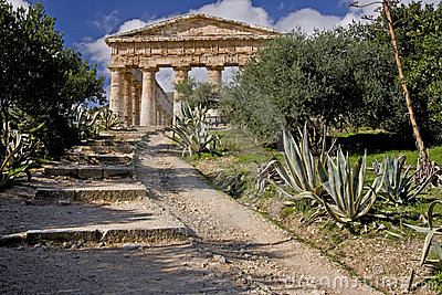 Ancient Greek Temple Ruins of Segesta