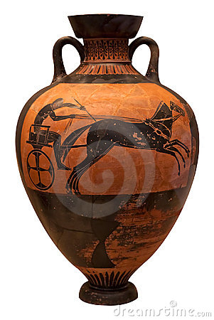 Free Ancient Greek Vase Depicting A Chariot Stock Image - 16359261