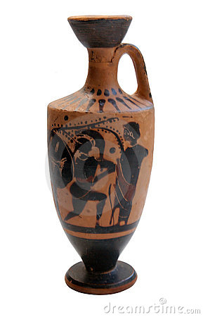 Ancient greek vase isolated