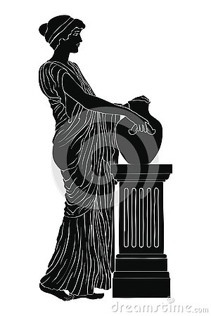 Free Ancient Greek Woman. Stock Image - 144490541