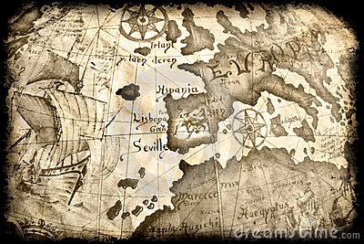 Ancient grunge map