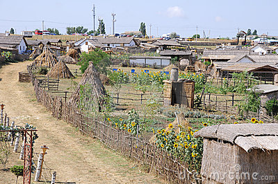 Ancient habitation of the Kuban Cossacks.