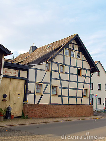 Ancient Half-Timbered House in Germany