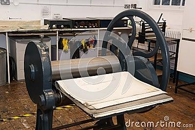 Ancient hand Printing press