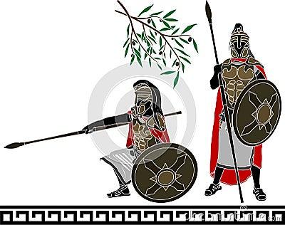 Ancient hellenic warriors