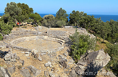 Ancient hellenistic theater at Samothraki