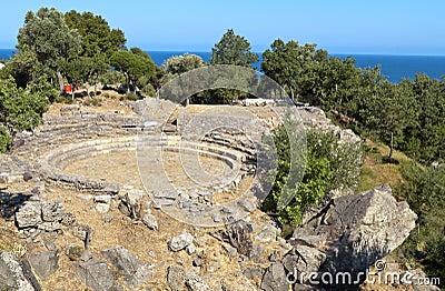 Ancient hellenistic theater at Samothraki
