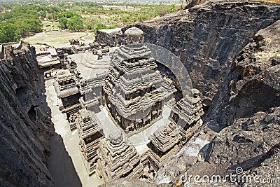 Ellora Caves - India - Ancient Hindu Rock Temple