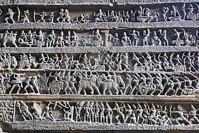 Ancient Hindu Temple Carving