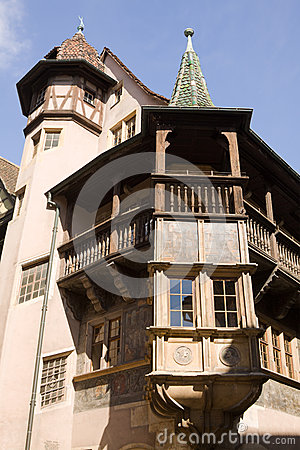 Ancient house in Colmar city, France