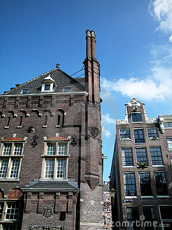 Ancient houses in Amsterdam, Netherland