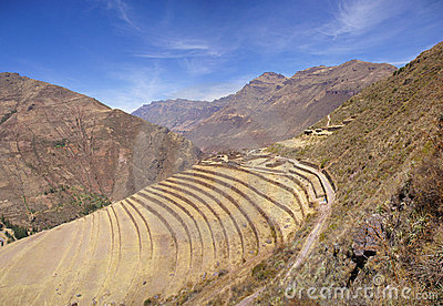Ancient Inca terraced stonework