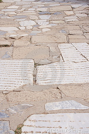 Ancient inlay, Ephesus, Turkey