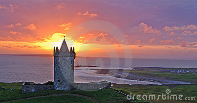 Ancient irish castle, west coast of ireland