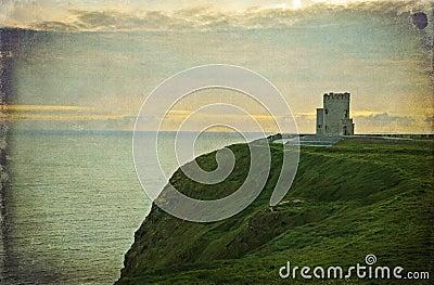 Ancient irish castle, west coast of ireland