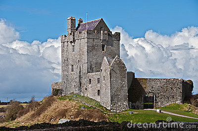 Ancient irish castle in the west of ireland