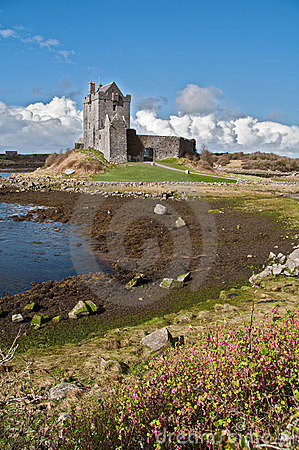 Ancient irish castle in the west of ireland